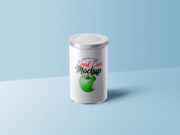 Food Can Tin Mockup PSD