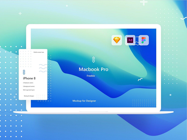 mockup iphone and macbook online free