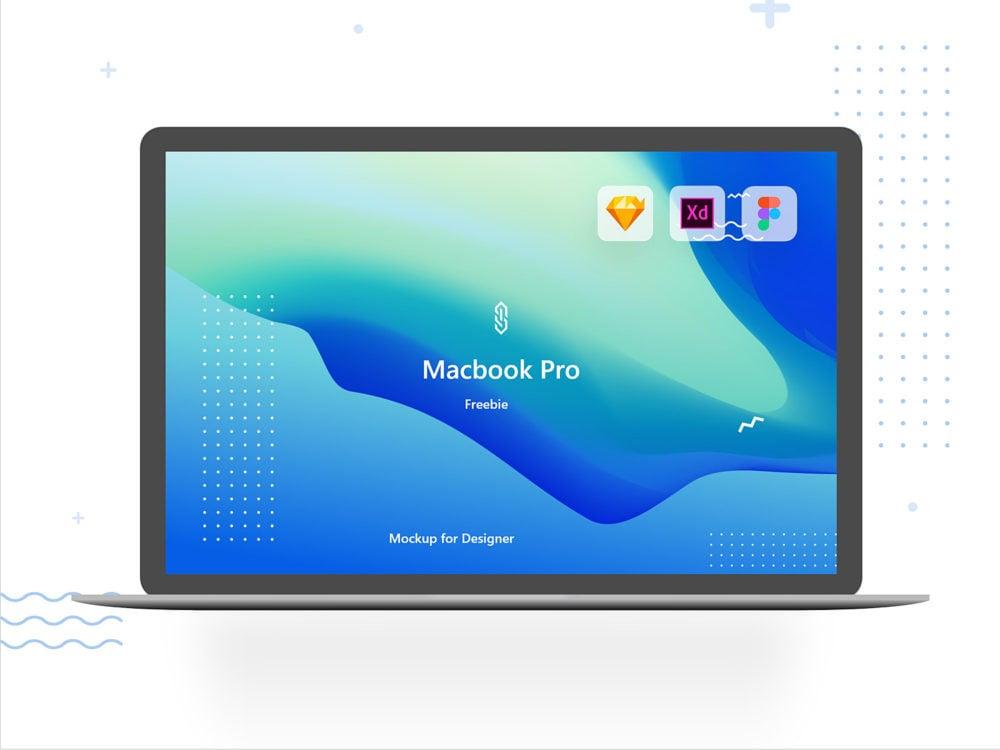 MacBook Pro Mockup Freebie. XD Sketch and Figma