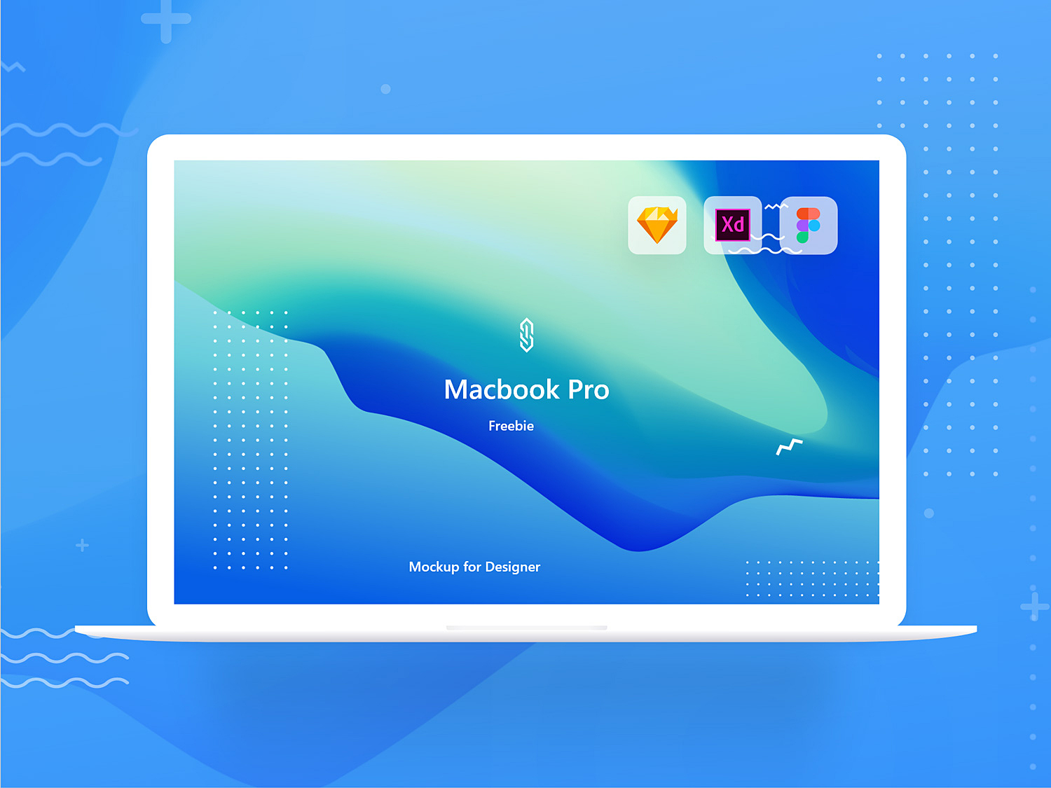 MacBook Pro Mockup Freebie. XD Sketch and Figma 03