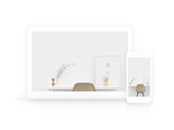 MacBook and iPhone White Sketch Mockup