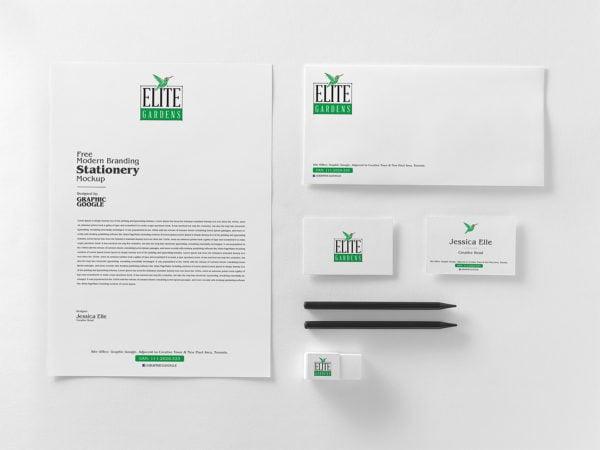 Modern Stationery Branding Mockup Free