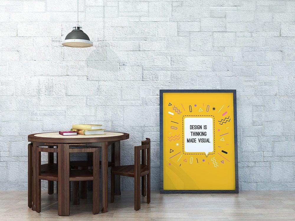 Poster Mockup PSD Free