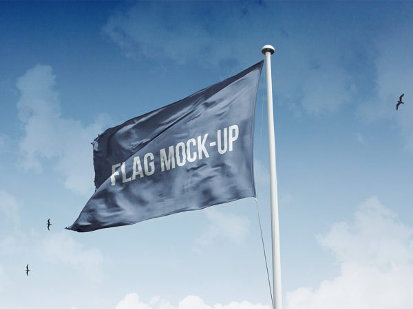 Realistic Flag Mockup Free