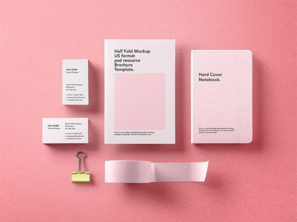 Stationery Branding Mockup Free PSD