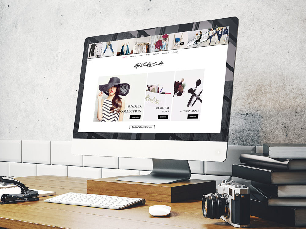 iMac Website Screen Mockup Free