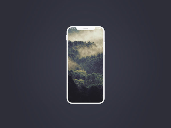 iPhone White Mockup