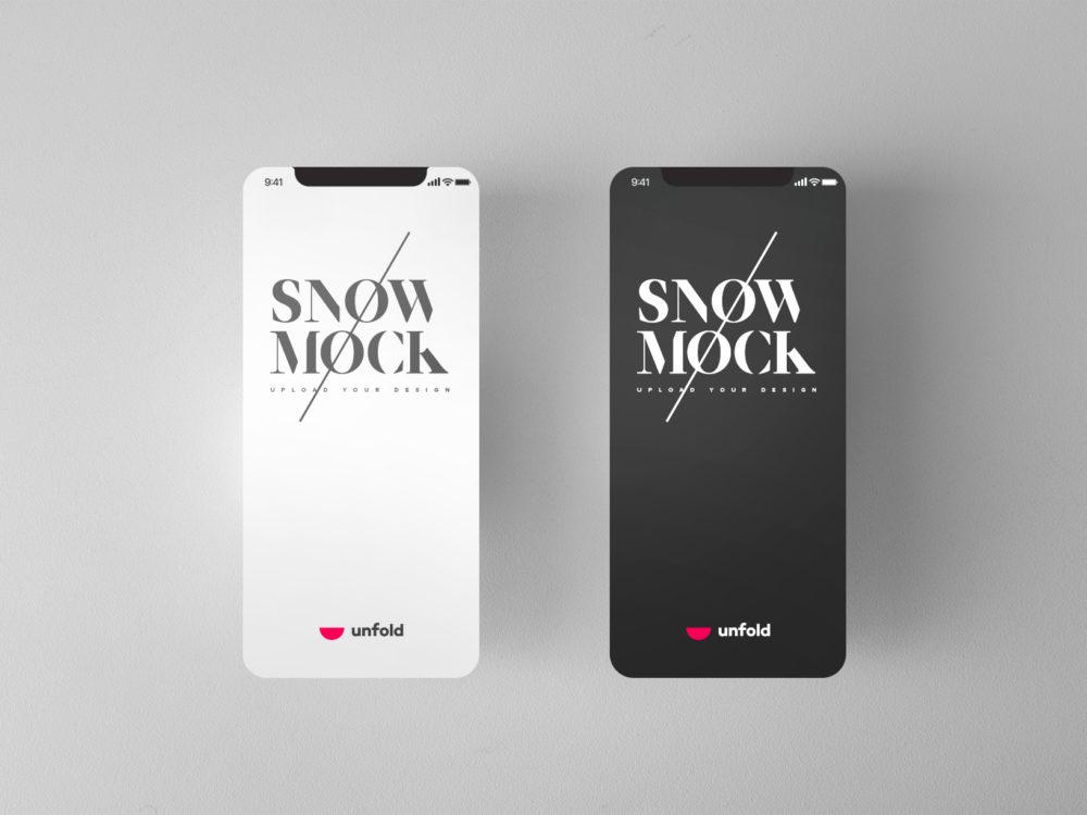 iPhone X Flat Mockup Free PSD