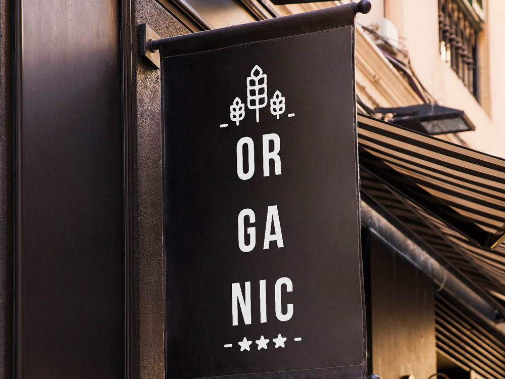 Black Shop Sign Free Mockup