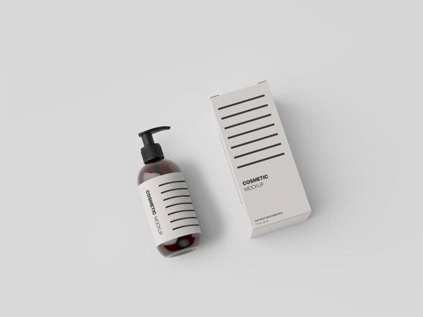 Cosmetic Bottle Packaging Mockup Free