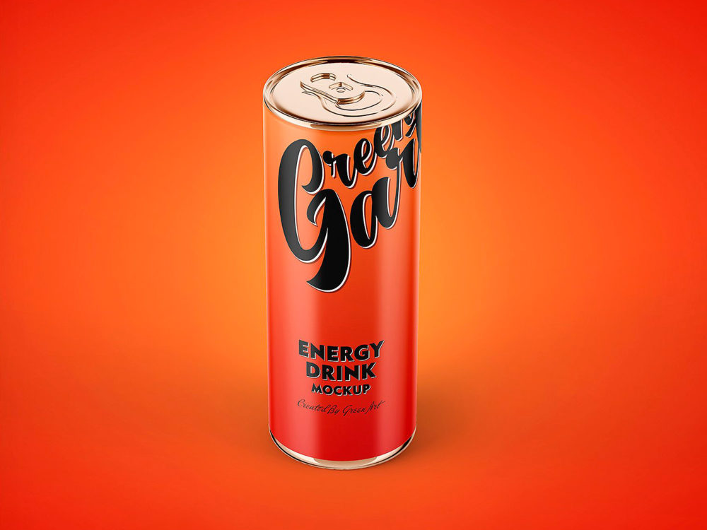 Energy Drink Can Mockup Free