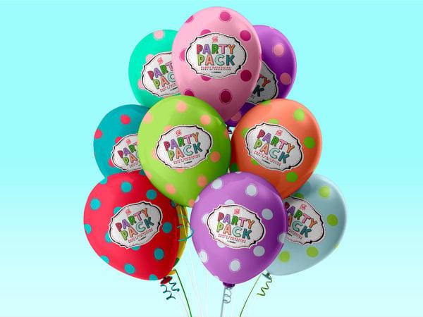 Free Balloons Mockup PSD