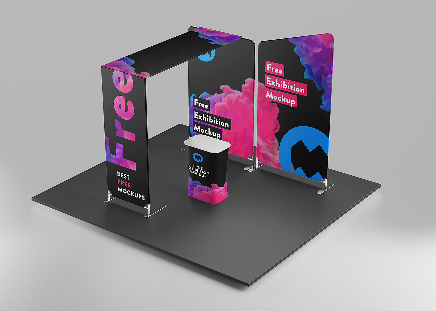 Exhibition Booth Mockup Free Download : Free exhibition mockup free mockup