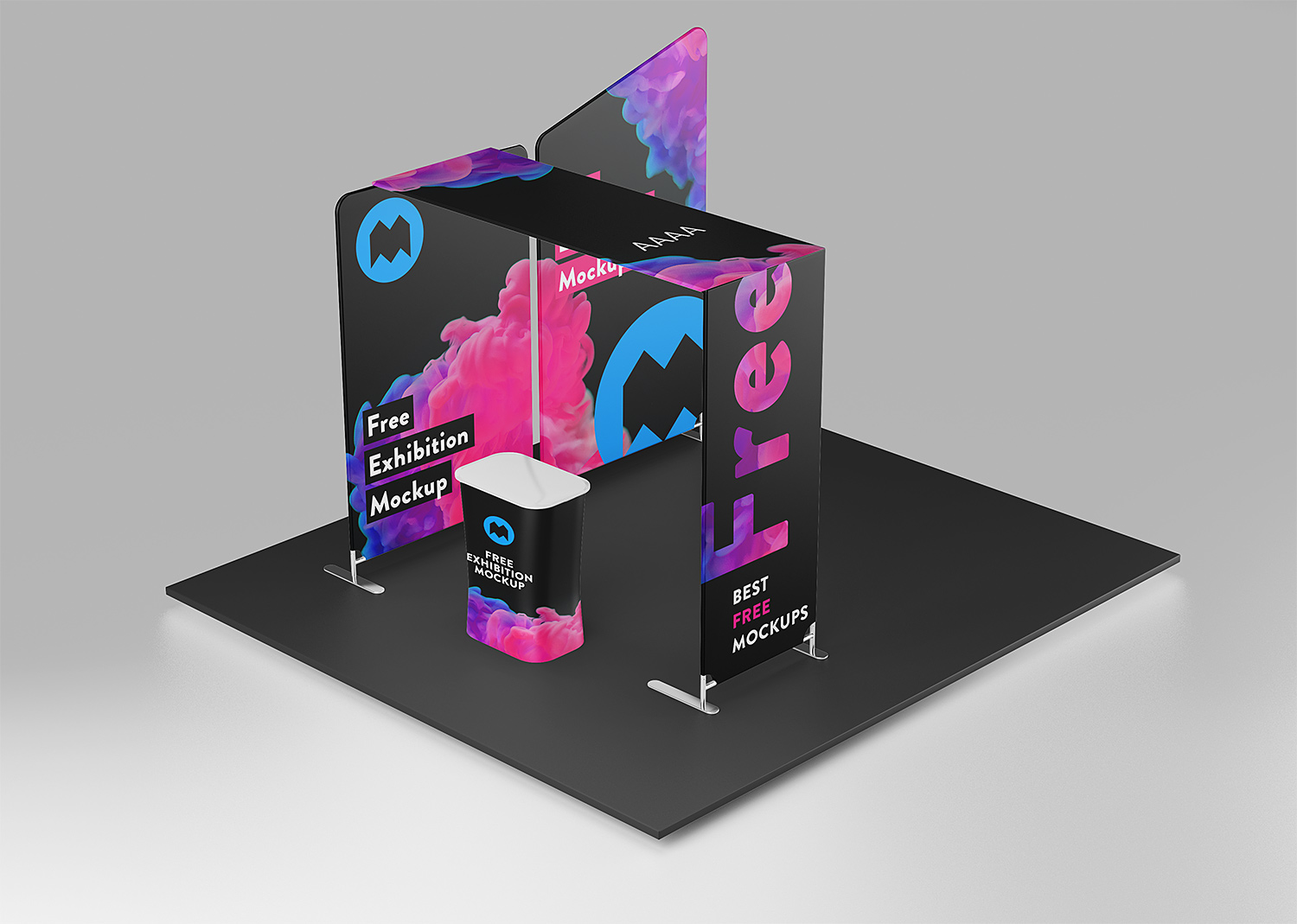 Mock Up Exhibition Stand Psd Free Download : Free exhibition mockup