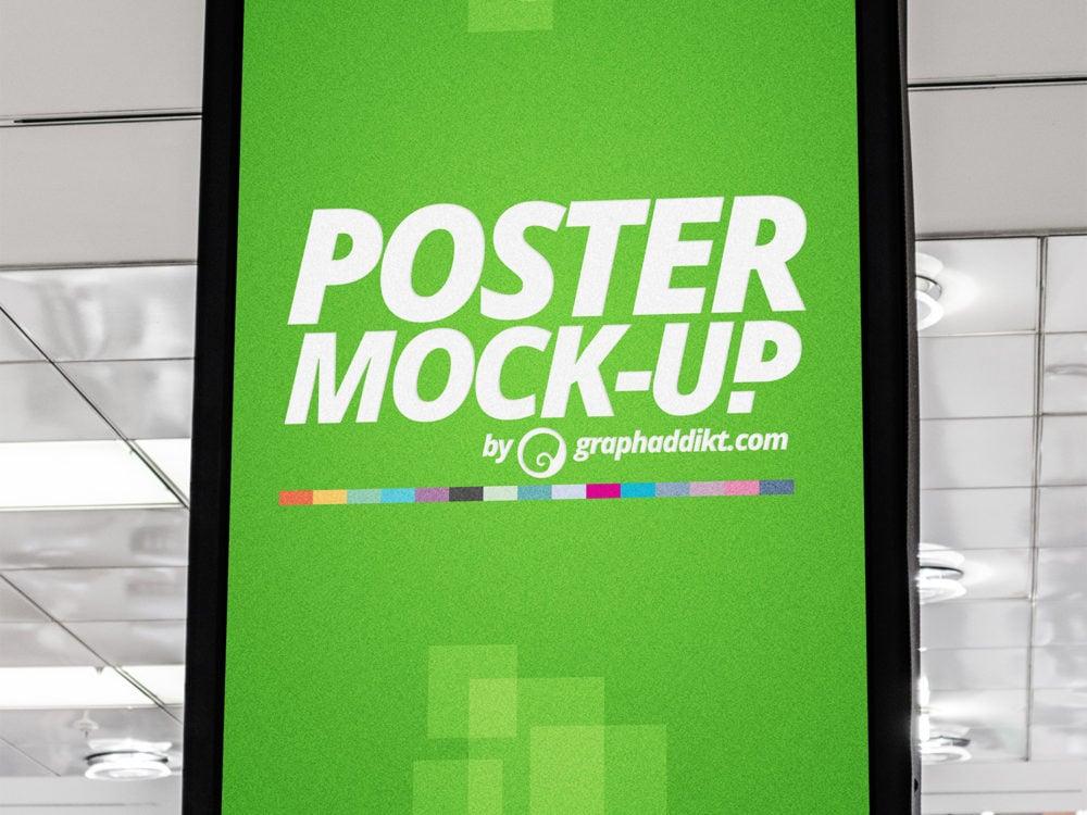 Free Indoor Advertising City Light Mockup