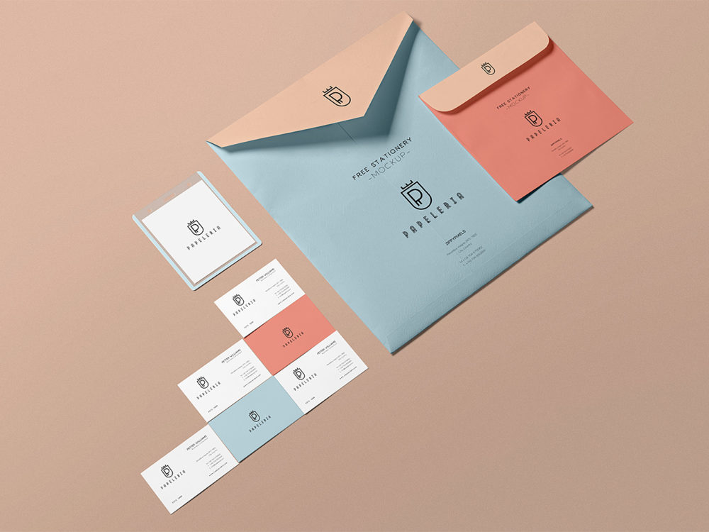 Free Stationery Envelope Mockup