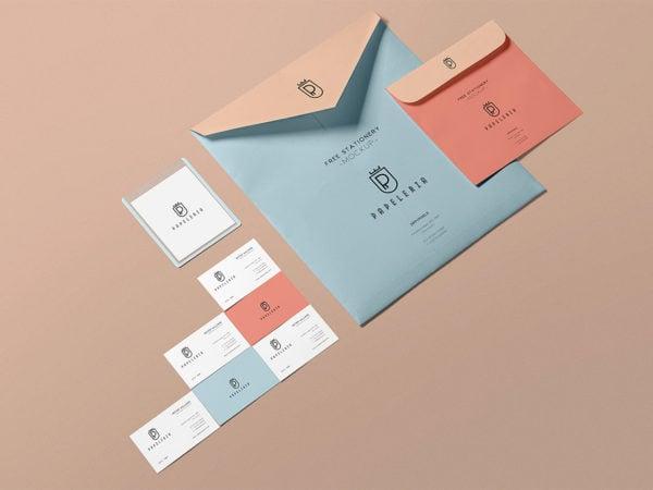 Free Stationery Envelope Mockup