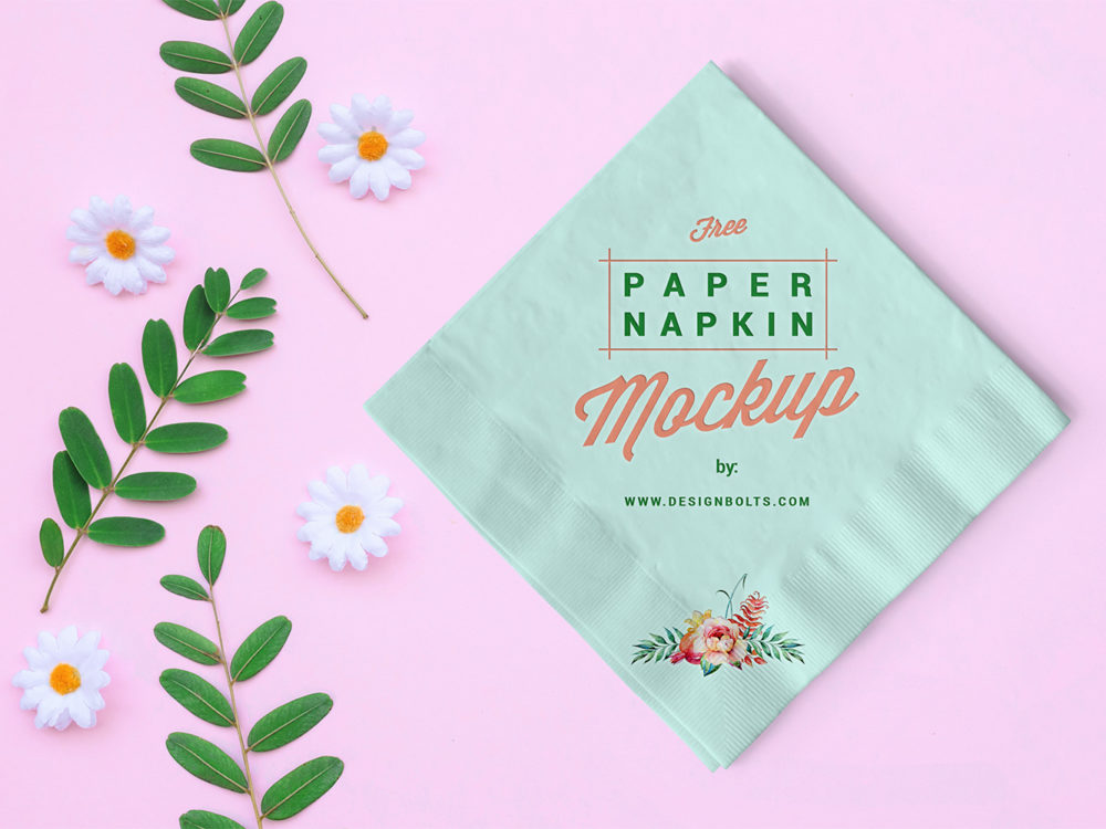 Free Table Paper Mockup PSD