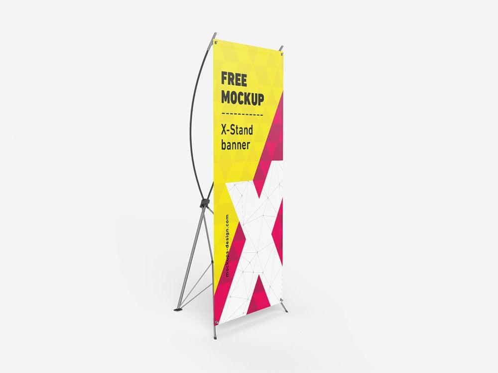 Free X-Baner Mockup PSD