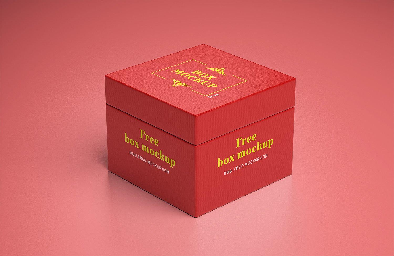 Gift Box Mockup Free Free Mockup
