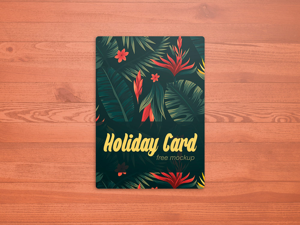 Holiday Card Mockup Free