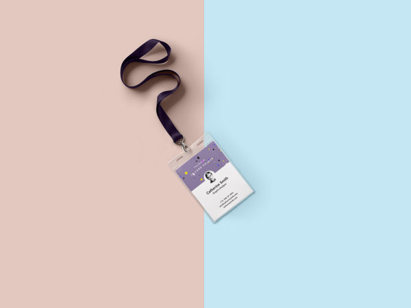 Identity Card Holder Mockup