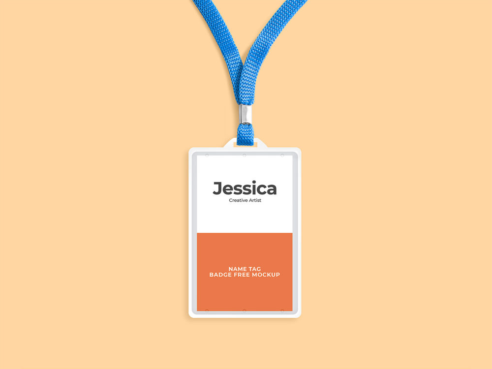 Name Tag Badge Free Mockup