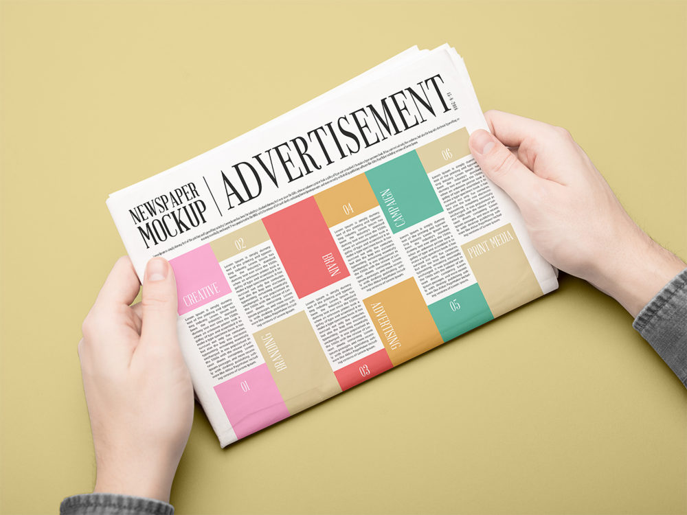 Newspaper Mockup PSD Free