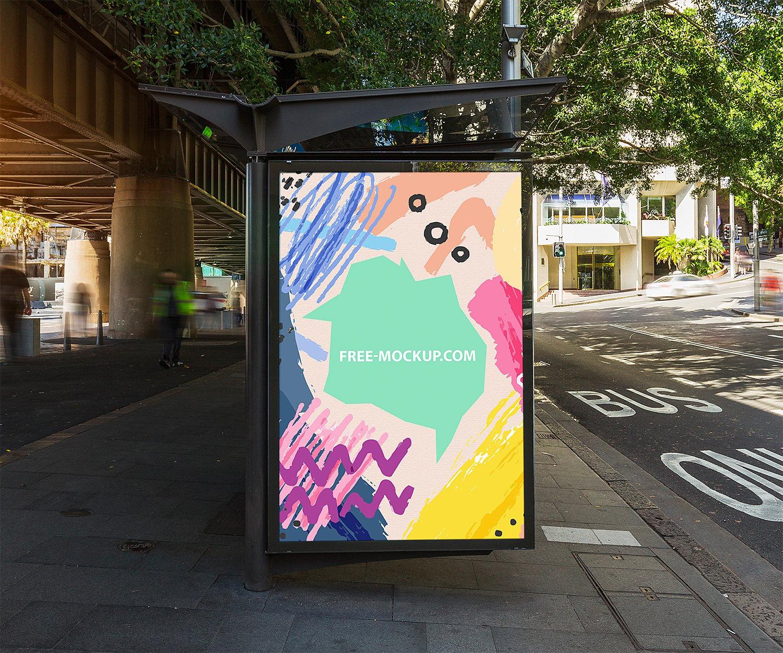 Рекламный постер на щит