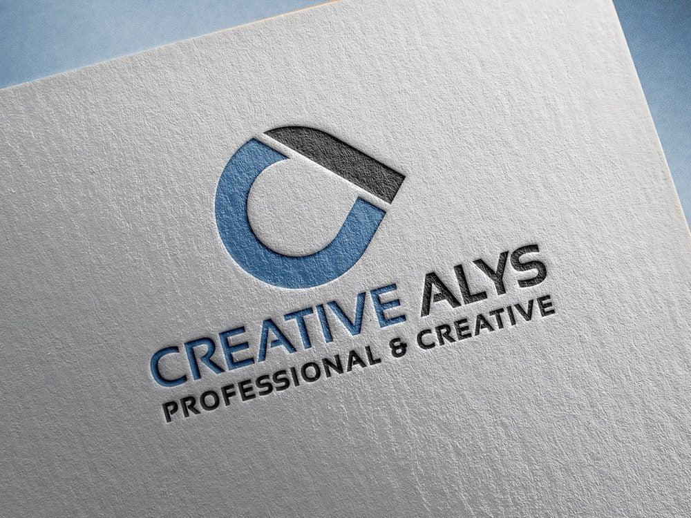Paper Pressed Logo Mockup PSD