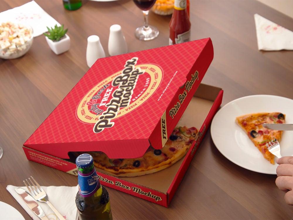 Pizza Mockup Free PSD