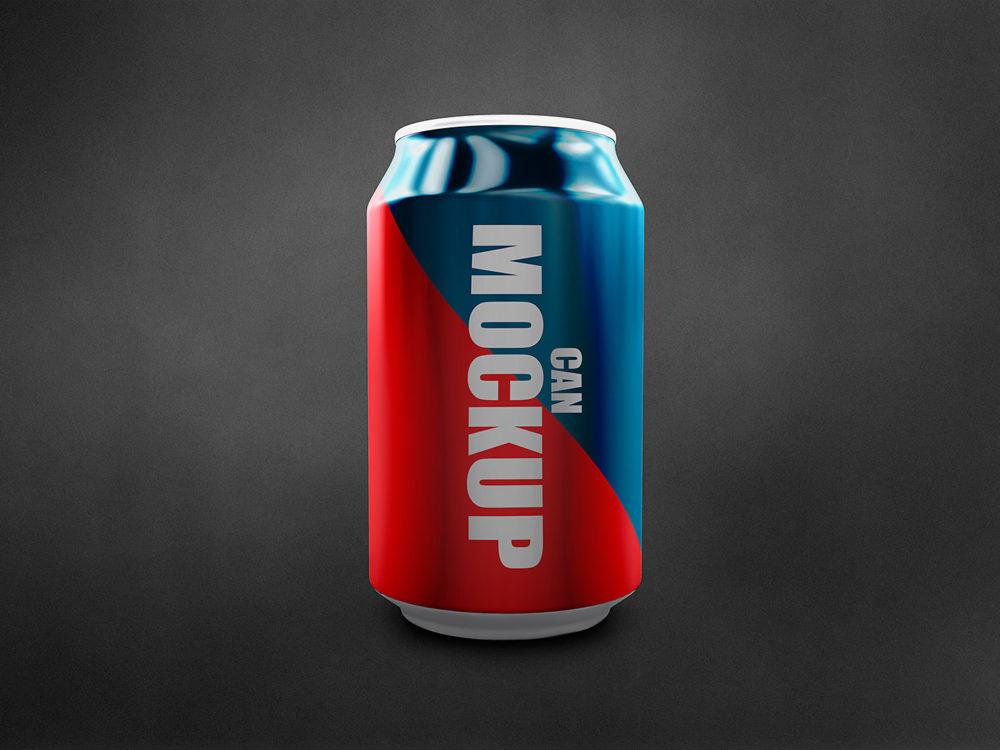 Soda Can Mockup Free