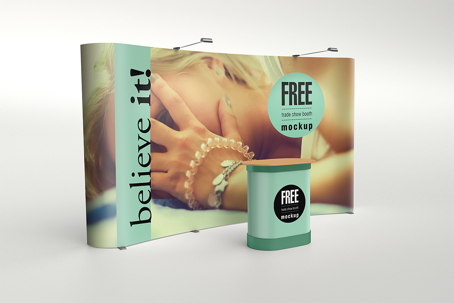 Exhibition Stand Mockup Psd Free : Trade show booth mockup free mockup