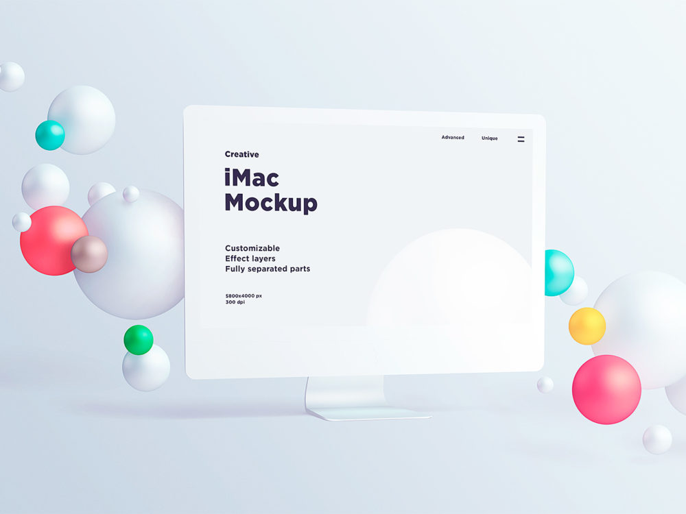 iMac White Mockup