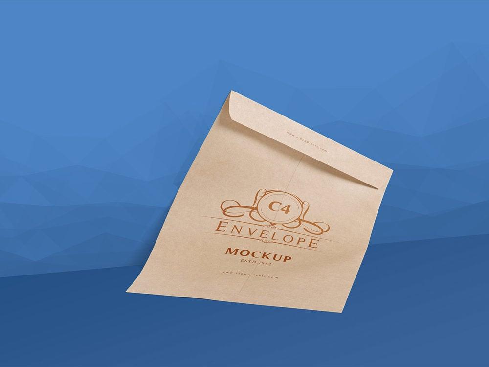 2 Serene Free C4 Envelope Mockup