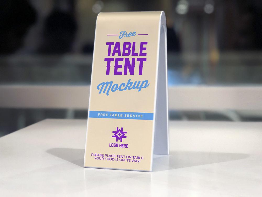 2-Sided Plastic Table Tent Mockup