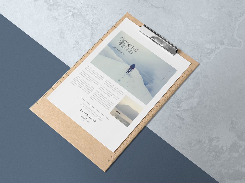 A4 Paper Free Mock Up