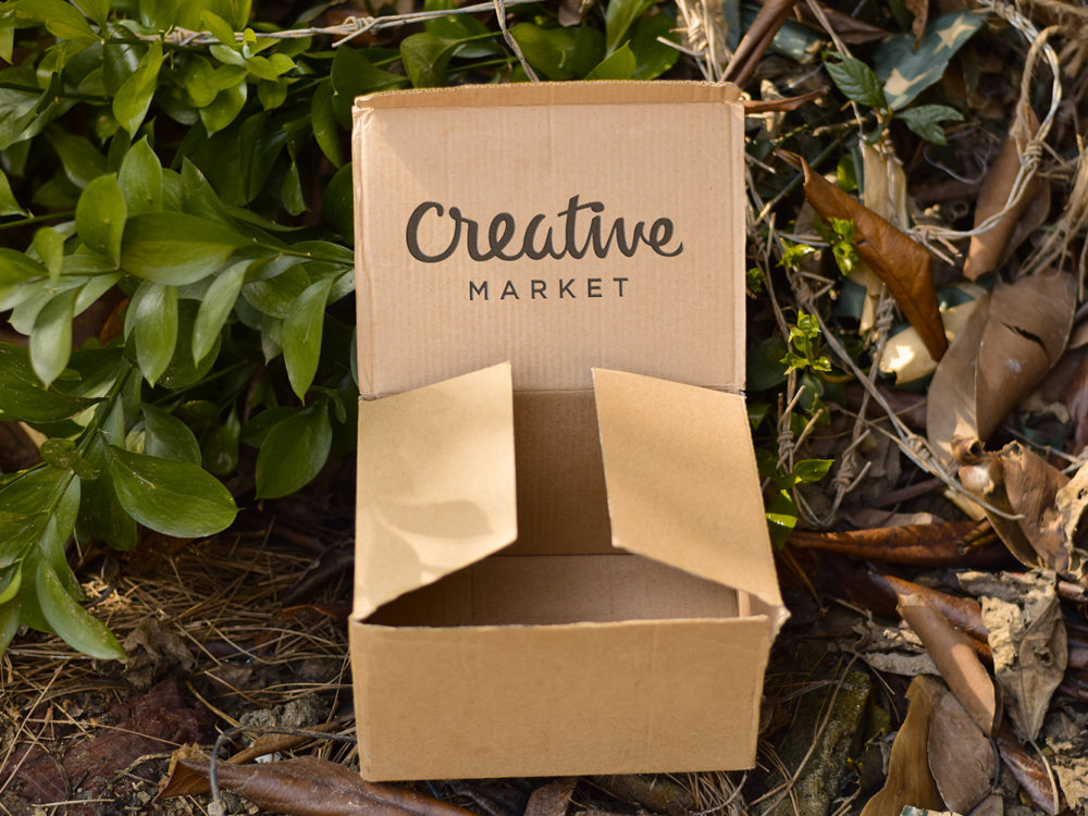 Cardboard Free Mockup PSD