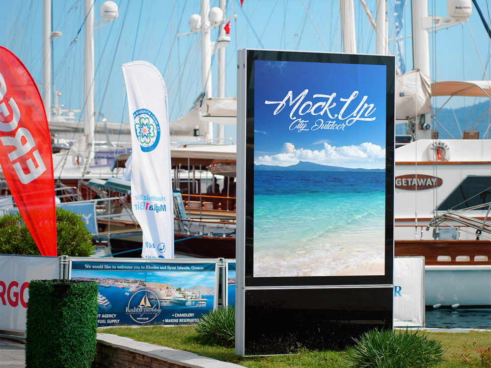 City Light Poster Outdoor Advertising Mockups
