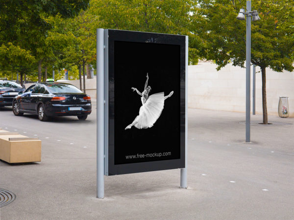 Citylight Poster Outdoor Advertising Mockup