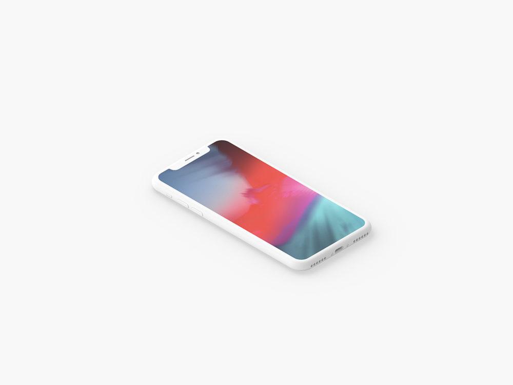 Clay iPhone X Presentation Mockup Set