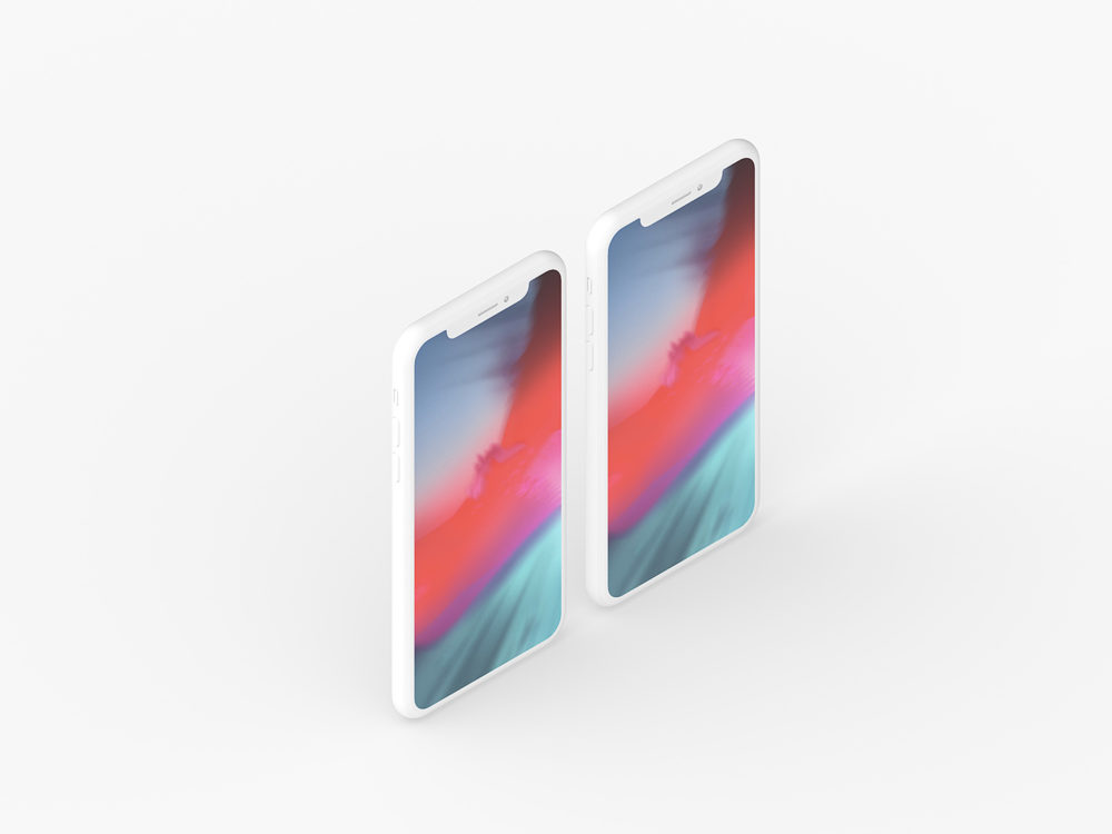 Clay iPhone X Presentation Mockup Set