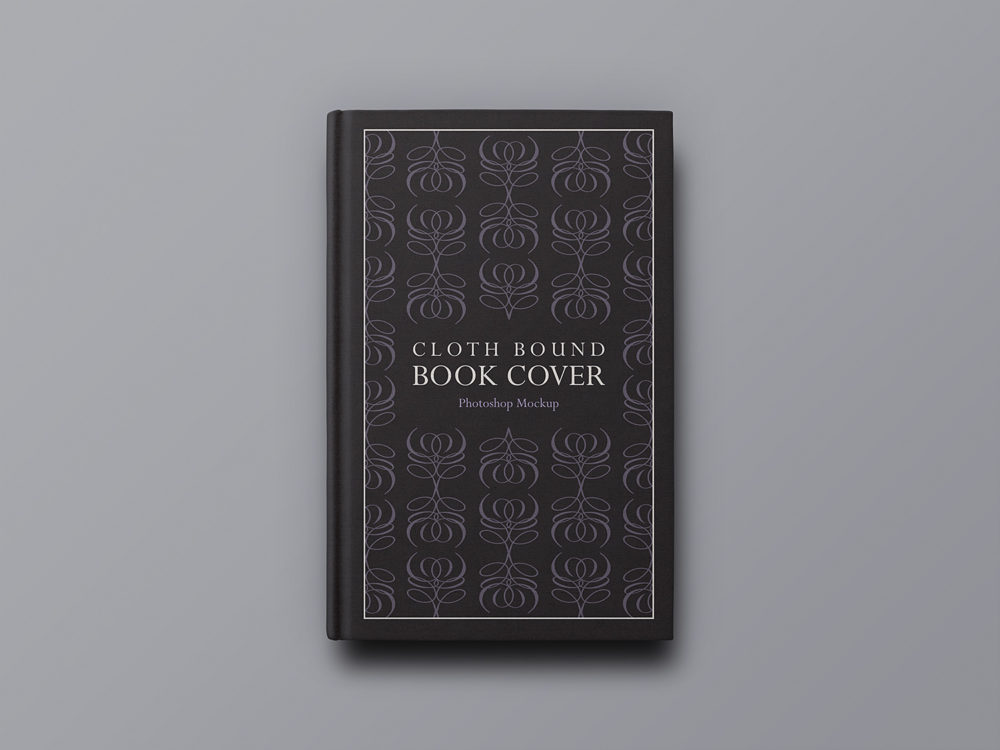 Cloth Bound Book Cover Mockup