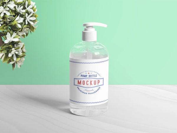 Dispenser Pump Bottle Mockup