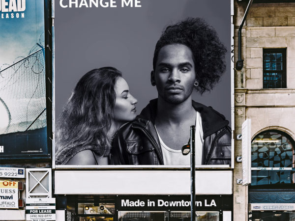 Downtown Square Billboard Mockup Free