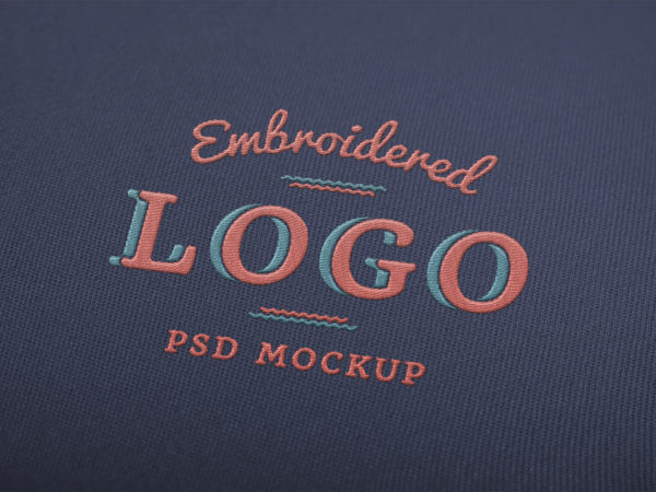 Embroidered Logo Mockup