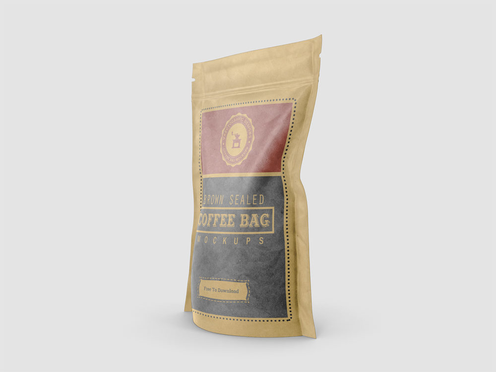Free Coffee Bag Mockups