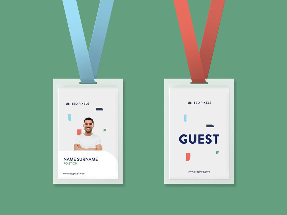 Free ID Card Holder Mockup