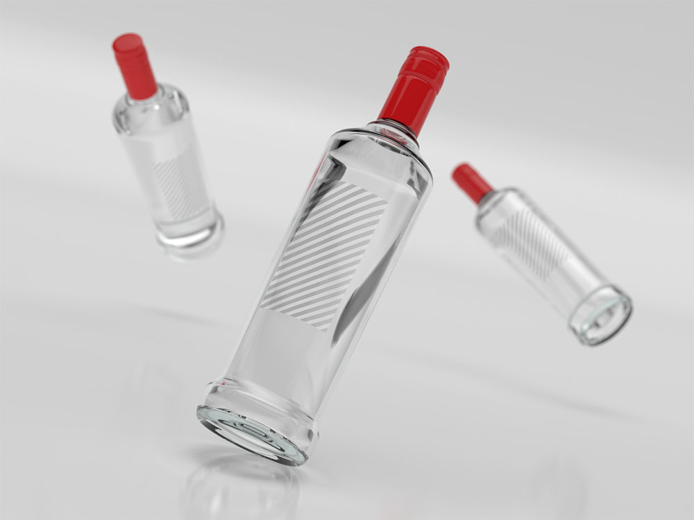 Free Vodka Bottle Branding Mockup
