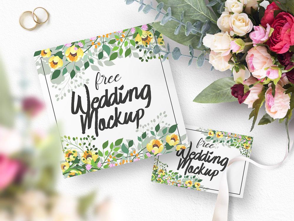 Free Wedding Mockup Set